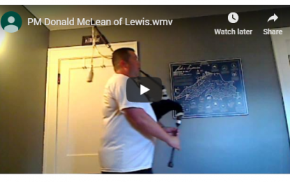 Studio Master Class: P/M Donald MacLean of Lewis (6/8 March)