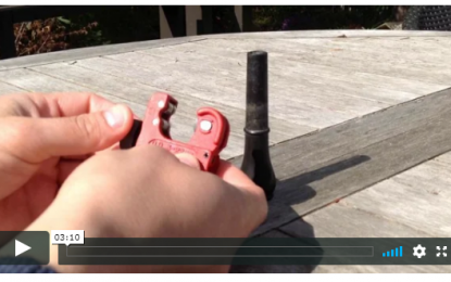 Use a mini pipe cutter to shorten your blowpipe or practice chanter