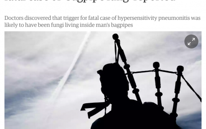 Should we worry about the news of 'fatal bagpipe lung disease'?