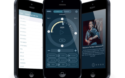 Jori Chisholm on the Piper's Metronome™ on James Laughlin's Pipe Band Inner Circle