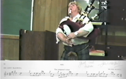 Famous Pipers:  Dr. John McAskill
