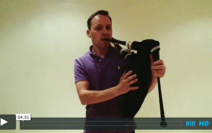 Bagpipe Fundamentals:  How to strike in your pipes cleanly every time.